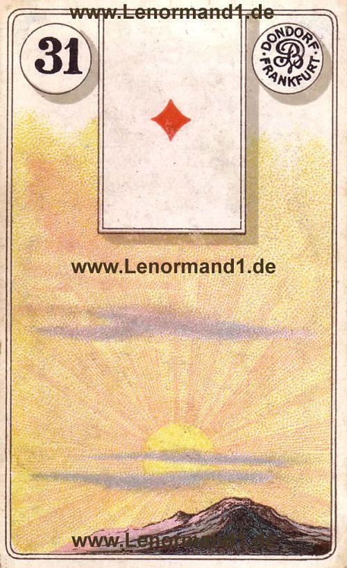Die Sonne Dondorf Lenormand Tageskarte heute