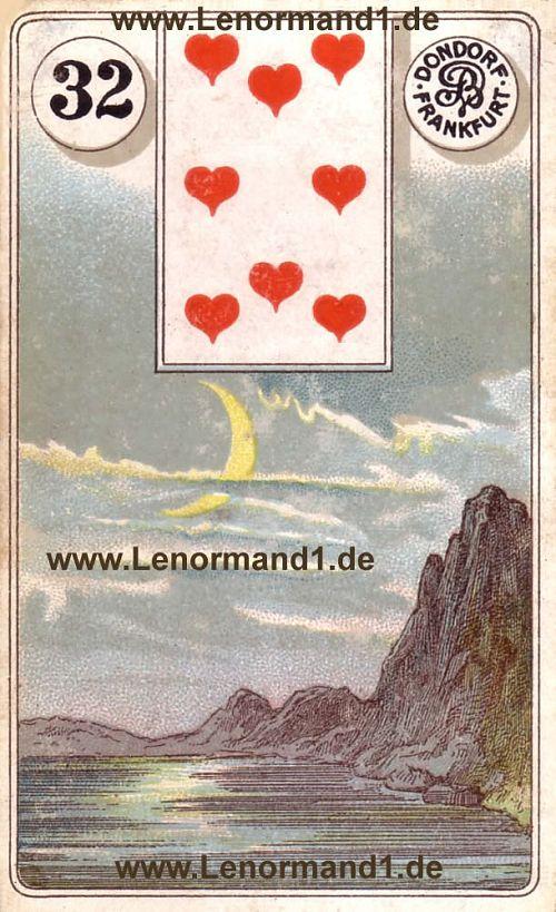 Der Mond von dem antiken Dondorf Lenormand