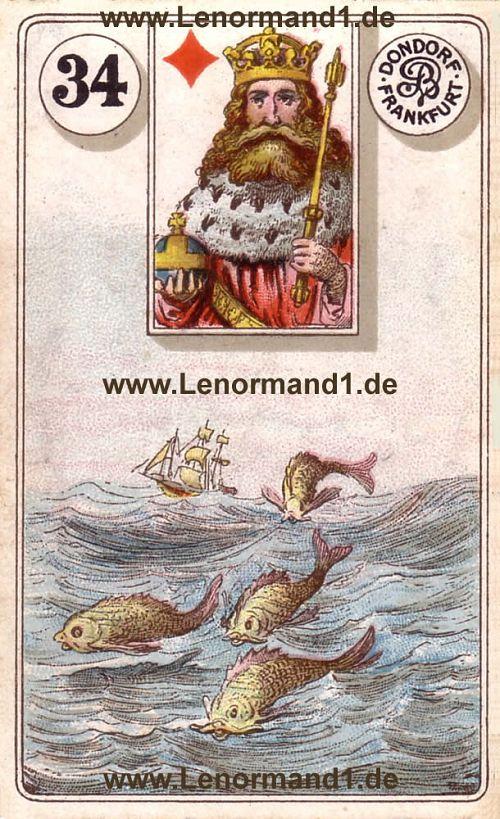 Die Fische Dondorf Lenormand Tageskarte heute