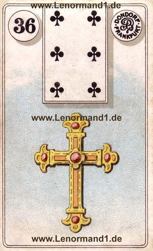 Das Kreuz von dem antiken Dondorf Lenormand