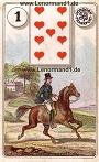 Der Reiter antike Dondorf Lenormandkarten