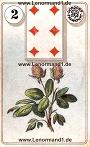Der Klee antike Dondorf Lenormandkarten