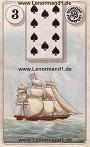 Schiff von den antiken Dondorf Lenormandkarten