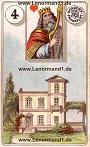 Haus von den antiken Dondorf Lenormandkarten