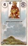 Wolken von den antiken Dondorf Lenormandkarten
