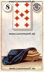 Sarg von den antiken Dondorf Lenormandkarten