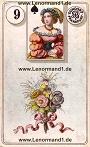 Blumen von den antiken Dondorf Lenormandkarten