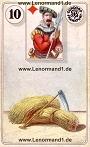Sense von den antiken Dondorf Lenormandkarten