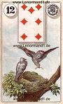 Vögel von den antiken Dondorf Lenormandkarten
