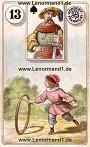 Kind von den antiken Dondorf Lenormandkarten