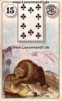 Bär von den antiken Dondorf Lenormandkarten