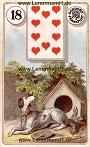 Hund von den antiken Dondorf Lenormandkarten