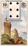 Turm von den antiken Dondorf Lenormandkarten