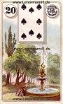 Park von den antiken Dondorf Lenormandkarten