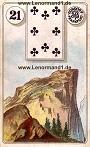 Berg von den antiken Dondorf Lenormandkarten