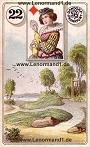 Wege von den antiken Dondorf Lenormandkarten