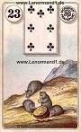 Mäuse von den antiken Dondorf Lenormandkarten