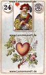 Herz von den antiken Dondorf Lenormandkarten