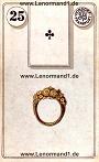 Ring von den antiken Dondorf Lenormandkarten