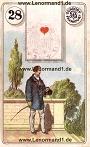 Der Herr antike Dondorf Lenormandkarten