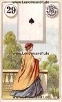 Dame von den antiken Dondorf Lenormandkarten