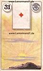 Sonne von den antiken Dondorf Lenormandkarten