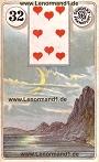 Mond von den antiken Dondorf Lenormandkarten