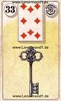 Schlüssel von den antiken Dondorf Lenormandkarten