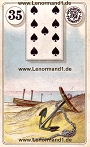 Anker von den antiken Dondorf Lenormandkarten