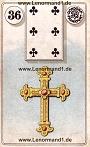 Kreuz von den antiken Dondorf Lenormandkarten