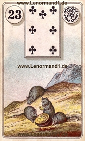 M�use Lenormand Bedeutung antike Dondorf Lenormandkarten