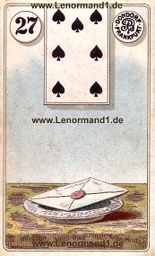 Brief Lenormand Bedeutung antike Dondorf Lenormandkarten