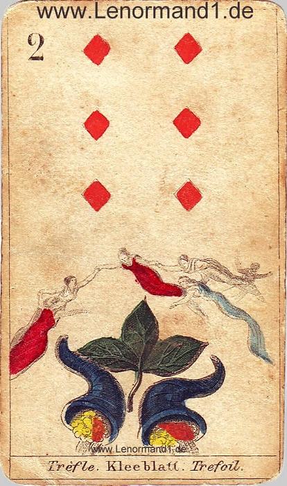 Der Klee antike Lenormand Tageskarte heute