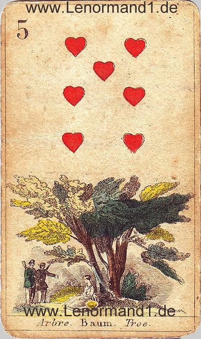 Der Baum von den antiken Lenormandkarten