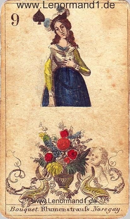 Die Blumen von den antiken Lenormandkarten