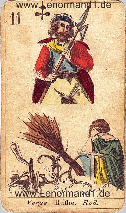 Die Ruten von den antiken Lenormandkarten