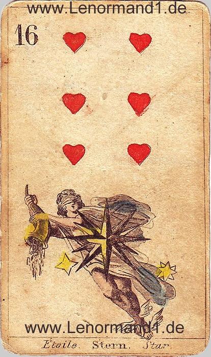 Die Sterne antike Lenormand Tageskarte heute