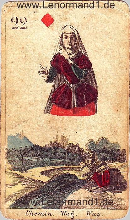 Die Wege antike Lenormand Tageskarte heute