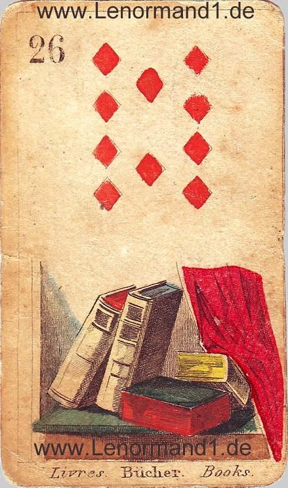Das Buch von den antiken Lenormandkarten