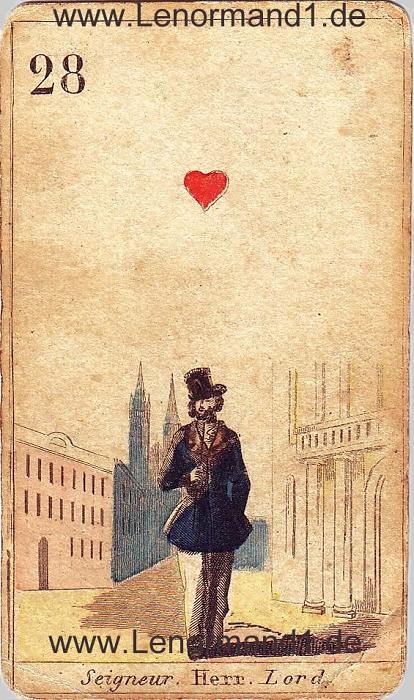Der Herr antike Lenormand Tageskarte heute