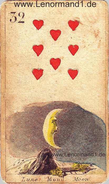 Der Mond antike Lenormand Tageskarte heute