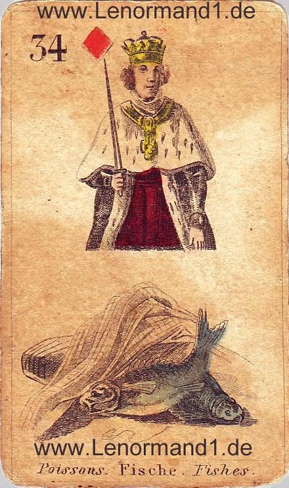 Die Fische antike Lenormand Tageskarte heute