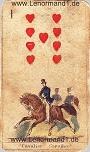 Der Reiter antike Lenormandkarten