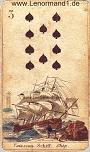 Das Schiff antike Lenormandkarten