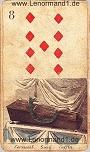 Sarg von den antiken Lenormandkarten