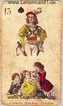 Kind von den antiken Lenormandkarten