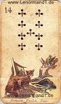 Fuchs von den antiken Lenormandkarten