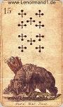 Bär von den antiken Lenormandkarten