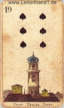 Turm von den antiken Lenormandkarten