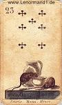 Mäuse von den antiken Lenormandkarten